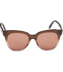 alexander mcqueen women's 53mm cat eye sunglasses - brown brown