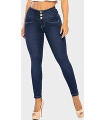 jeans push up azul marino cheviotto