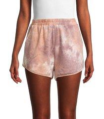 allison new york women's tie-dyed shorts - size l