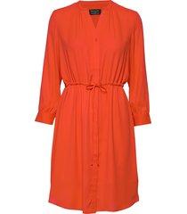 slfdamina 7/8 dress b knälång klänning orange selected femme