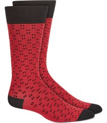 alfani men's micro diamond dot socks, created for macy's