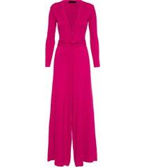 macacão feminino tr pantalona faixa - rosa