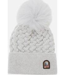parajumpers women's tricot hat - silver melange