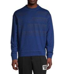 emporio armani men's logo graphic sweatshirt - bluette - size xxl