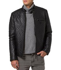 men quilted leather jacket, men quilted motorcycle jacket, mens leather jackets