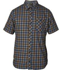 fox men's good trouble yarn-dyed plaid twill shirt