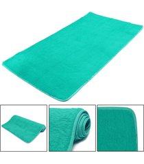 mat moda dormitorio estera del piso mullido manta antideslizante salón del hogar del amortiguador alfombra negro - azul