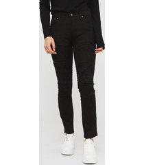 jeans il gioco natalie negro - calce ajustado