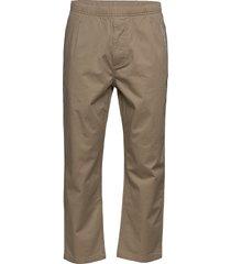 easy waist woven pant khaki chinos byxor brun converse