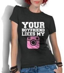 camiseta criativa urbana frases engraçadas your boyfriend