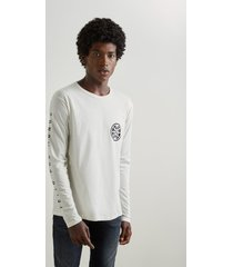 camiseta estampada mundo reserva branco. - branco - masculino - dafiti