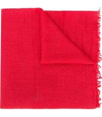 faliero sarti cachecol de cashmere com acabamento desfiado - rosa
