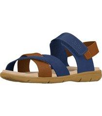 sandalia cuero basic sandals mini azul bibi