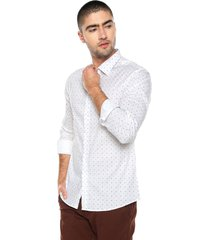 camisa blanco-azul-negro fiveblu