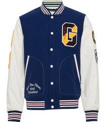 d1. the gant spring varsity jacket bomberjack jack blauw gant