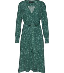 aurélie wrap dress knälång klänning grön morris lady