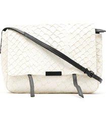 osklen bolsa tiracolo de couro - branco