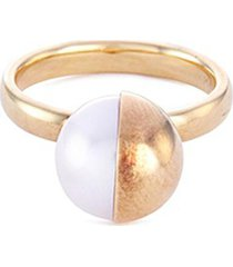 'arlequin' freshwater pearl 18k yellow gold ring
