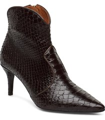 booties 3352 shoes boots ankle boots ankle boots with heel svart billi bi