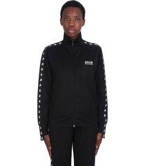 golden goose star sweatshirt in black polyester