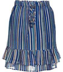 lurex rok jamilla  blauw