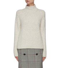 texture funnel neck wool blend sweater