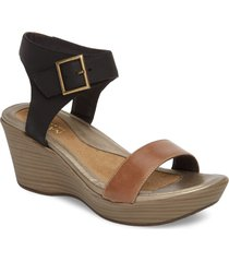 women's naot caprice wedge sandal, size 9us - brown
