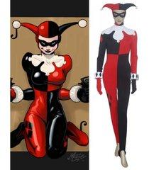 batman harley quinn jumpsuit costume harley quinn cosplay outfit
