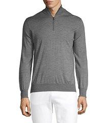 wool & silk-blend zip sweater
