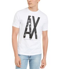 ax armani exchange men's floral logo t-shirt