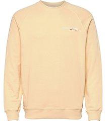 classic crewneck in organic cotton sweat-shirt trui oranje scotch & soda