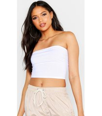 tall neon geribbelde bandeau top, wit