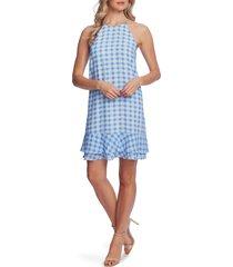 women's cece gingham tiered ruffle sleeveless a-line dress