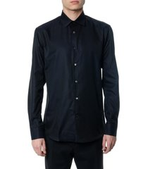 salvatore ferragamo black cotton shirt