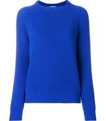 forte forte crew neck knit pullover - blue