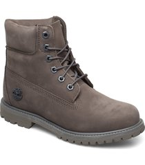 6in premium boot - w shoes boots ankle boots ankle boots flat heel grå timberland