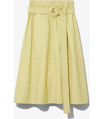 proenza schouler white label leather belted skirt lemon/yellow 4