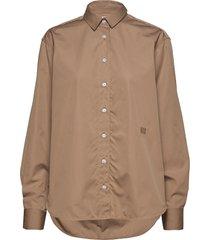 capri blouse lange mouwen bruin totême