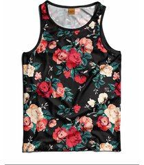 regata floral florida swag, calt store, preta - floral - masculino - dafiti