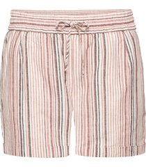 shorts in misto lino (marrone) - bodyflirt