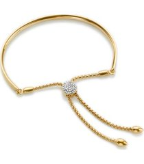 fiji diamond toggle bracelet, gold vermeil on silver
