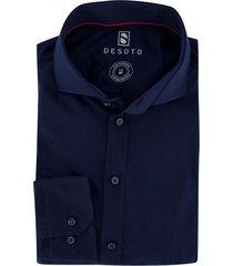 desoto overhemd donkerblauw cutaway boord