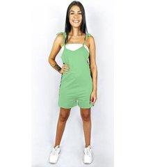 macaquinho wss brasil verde estampado - feminino
