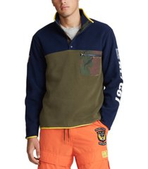 polo ralph lauren men's big & tall color blocked pullover