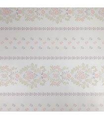 kit 2 rolos de papel de parede fwb adesivo floral lilás fundo claro