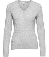 madelene pullover stickad tröja vit daily sports