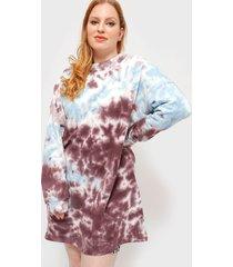 vestido missguided basic sweater dress tie dye m multicolor - calce oversize