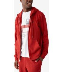 true religion men's buddha zip up long sleeve hoodie