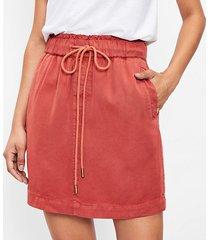 loft drawstring pocket skirt