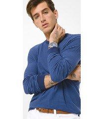 mk pullover in misto cotone testurizzato a righe - denim scuro (blu) - michael kors